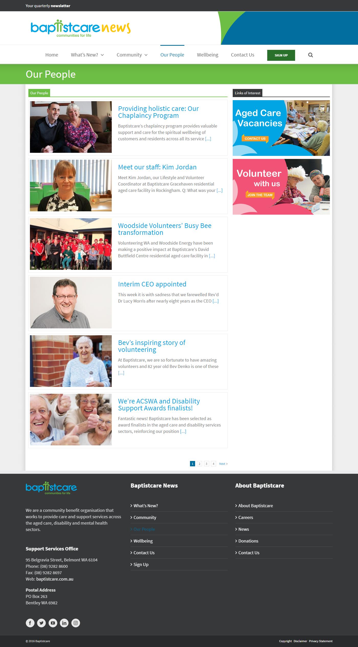 Baptistcare News